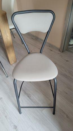 Krzesła barowe 2szt szare madera lux Agata meble hoker hokery  krzesło