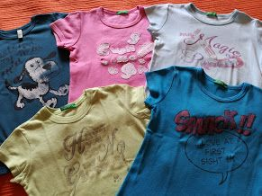 Lote 5 T-Shirts Benetton, 3 Anos