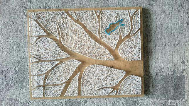 Obrazek drzewo String Art