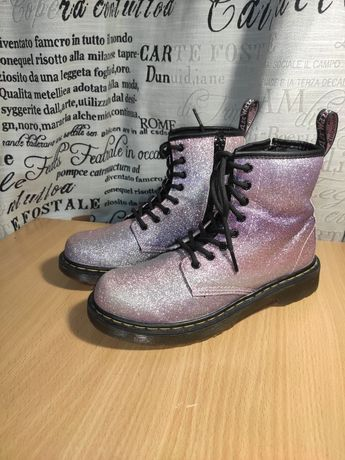 Оригинальные глитерные Ботинки Dr. Martens для девочки 33 .5