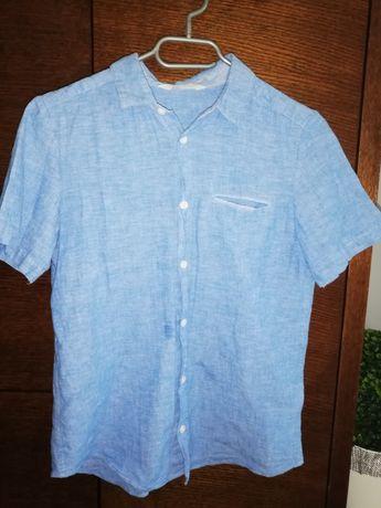 Koszula H&M, niebieska, błękitna r. 152