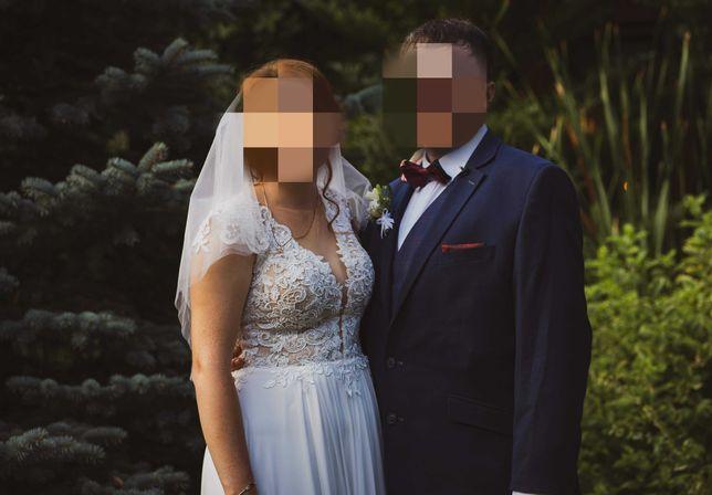 Suknia Ślubna rozmiar 40-42, na wysokość 170 cm + welon