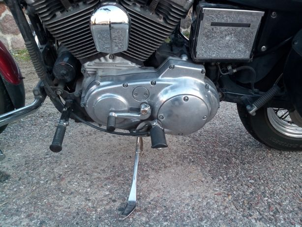 Harley Davidson podnóżki i chromowane mocowania do Sportstera