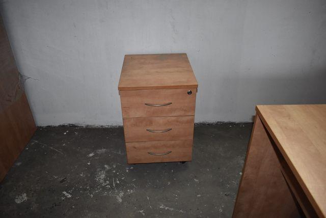 Kontenerek kontener pod biurko z szufladami na kółkach zamykane