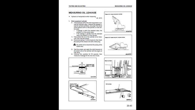 Komatsu PW 160-7E0 instrukcja napraw