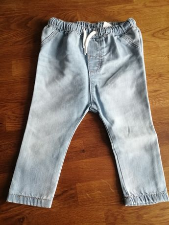 Spodnie jeans dziecięce h&m 80
