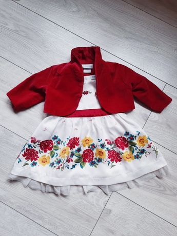Платье атласное р.3-6мес.