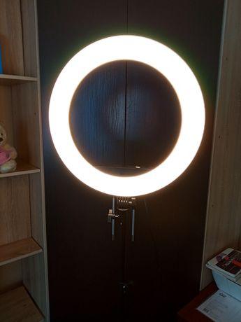 Лампа кольцевая профессиональная лампа визажиста бровиста Пульт ду