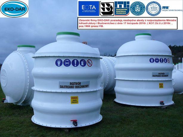 Zbiornik zbiorniki na nawozy płynne RSM solankę, deszczówkę , Atest