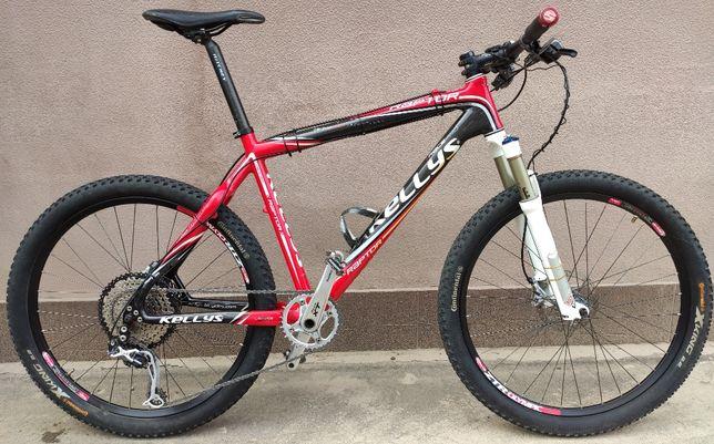 Велосипед карбоновый Kellys Raptor 26er (размер L, 19.5) 10.3 кг