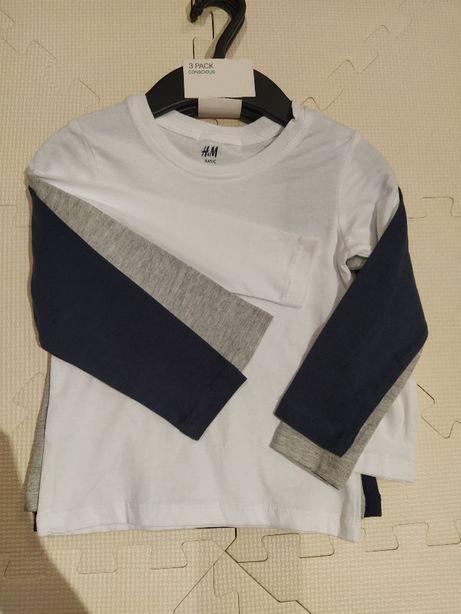 Zestaw koszulek z długim rękawem h&m 92