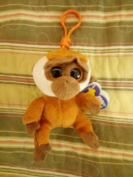 Брелок подвеска мягкая Обезьяна плюшевая TY карабин подарок ребенку