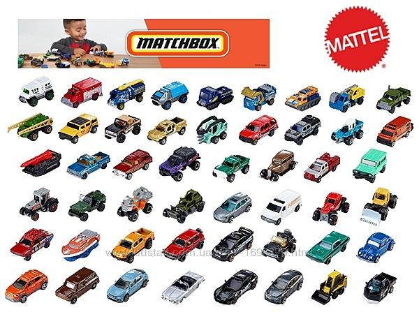 Matchbox Cars 50 Pack родич Hot Wheels Хот Вілс Вилс Базові машинки