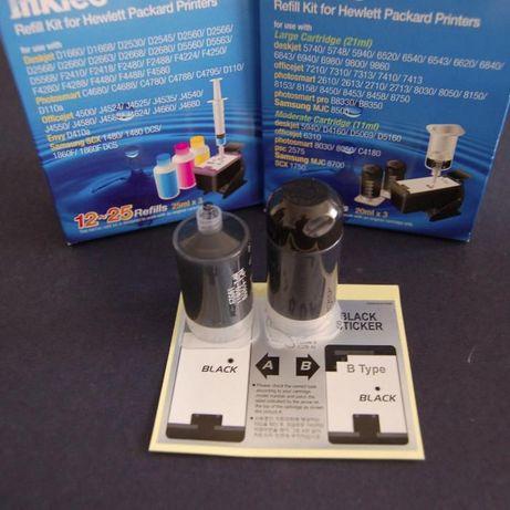Kits Recarga Tinteiros HP 564/364/178/862/920 (Preto)