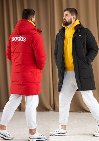 ADIDAS куртка удлинëнная зима. Термовставка до -30°. Black/Red. 2021 г
