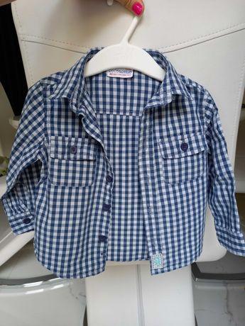 Koszula w kratę w kratkę granatowa Coccodrillo r.80