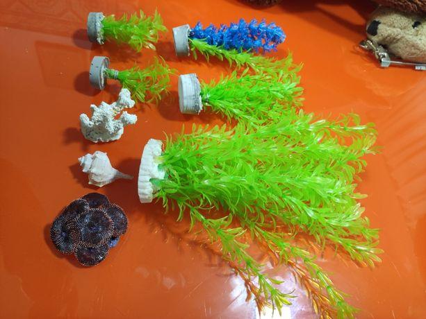 Planta Plastico Aquário