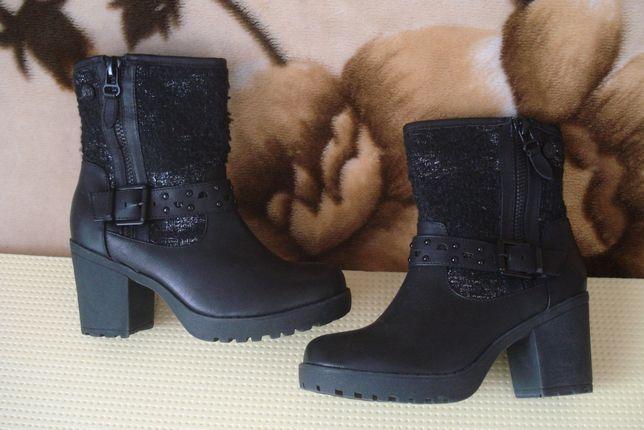 37,5 -38 р./24 см. новые фирменные демисезонные кожаные ботиночки