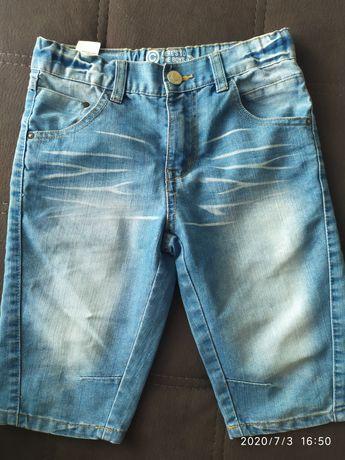 Spodenki chłopięce krótkie jeansowe 140