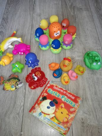 Zestaw zabawek do kąpieli gratis kilka maskotek