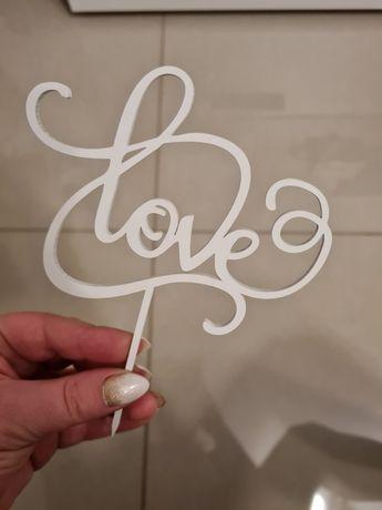 Topper na tort LOVE