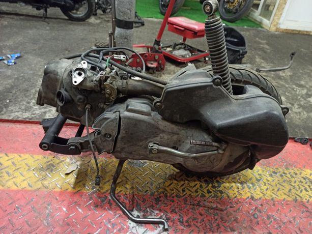 Двигатель, разборка мотор Suzuki Lets 4 , 5 Address v50