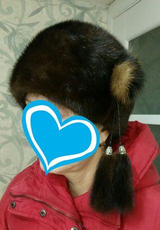 Норковая шапка, 55 размер