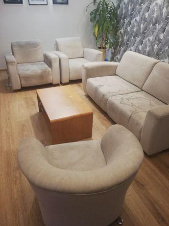 Komplet do salonu - sofa i 3 fotele
