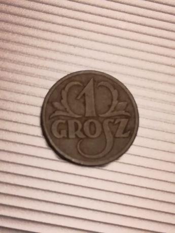 Moneta 1 grosz z 1938r
