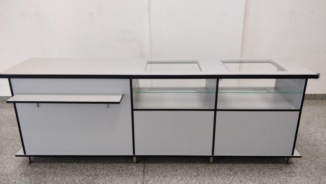 Lada sklepowa - szkło - szuflady