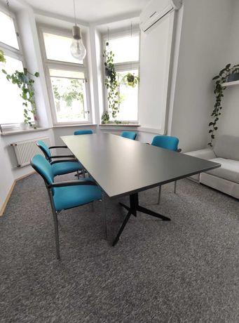 Stół konferencyjny grafit 240 cm x 100 cm firmy Elzap