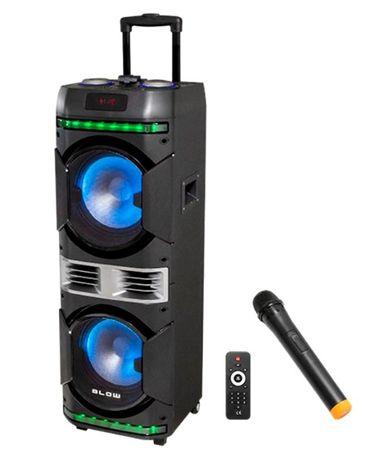 Kolumna Głośnik BLUETOOTH Radio FM USB MP3 KARAOKE dla DJ a Wodzirej a