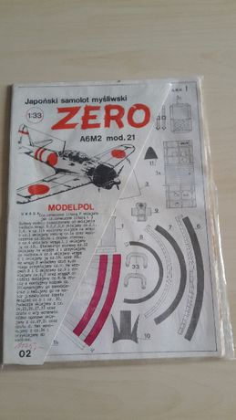 Japoński samolot myśliwski ZERO A6M2 HAMP A6M3