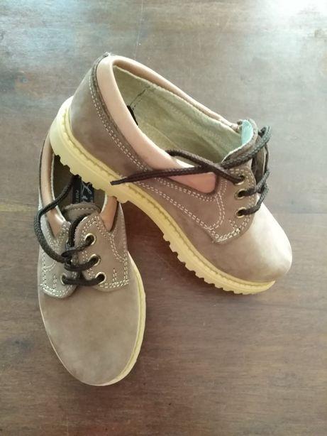 Sapatos pele 29 novos Fabrico Português
