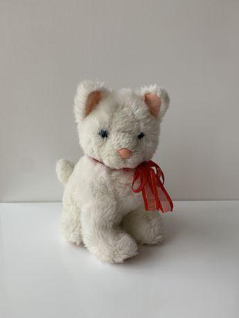Мягкая игрушка белый кот котик