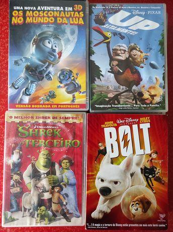 DVDs animação infantil