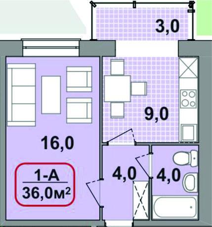 Продам Однокімнатну 36м2!!! Центр!!!