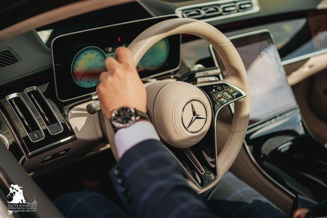 Najnowsza S-klasa, auto do ślubu, Mercedes do ślubu, luksus do ślubu