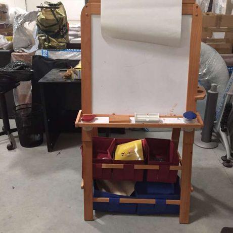 quadro atividades em madeira