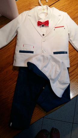 Piękny nowy garniturek na Chrzest Święty dla chłopczyka.Nowa cena!