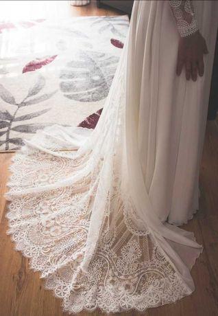 Suknia ślubna styl rustykalny