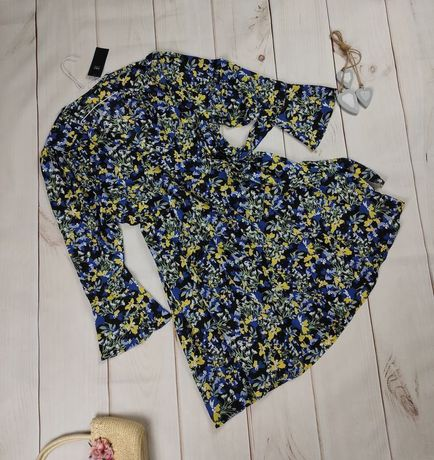 Платье халат новое большого размера в весенние цветы marks&spencer 22