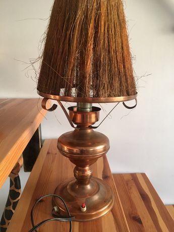 Stara miedziana lampa