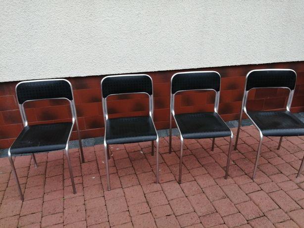 Krzesła metalowo plastykowe