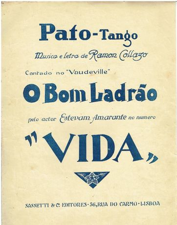 8016 - Partitura Pato Tango Musica e Letra de Ramon Collazo