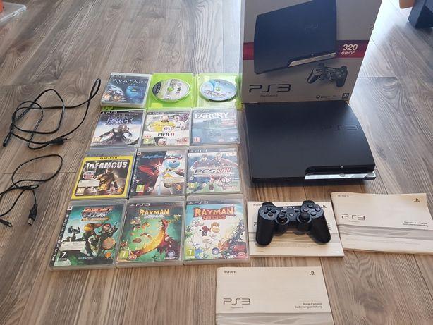PlayStation 3 ps3 320gb 12 gier oryginalny pad