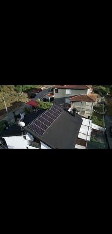 Kit solar 2 paineis de 540w mais inversor