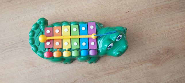 cymbałki dzwonki Fisher Price krokodyl