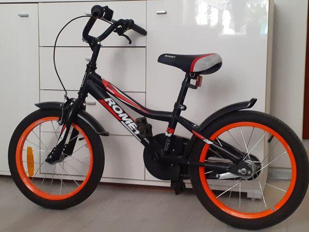 Rowerek dziecięcy Romet 16 + kółka boczne i prowadnik