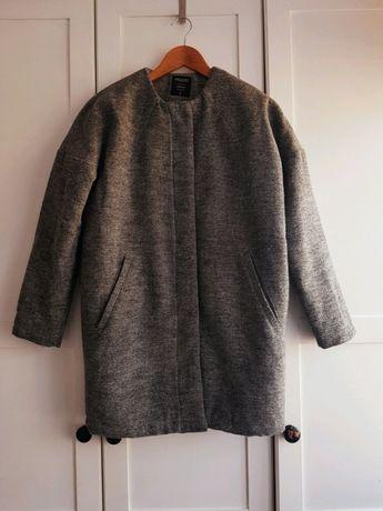 Płaszcz oversize szary płaszcz płaszcz zimowy